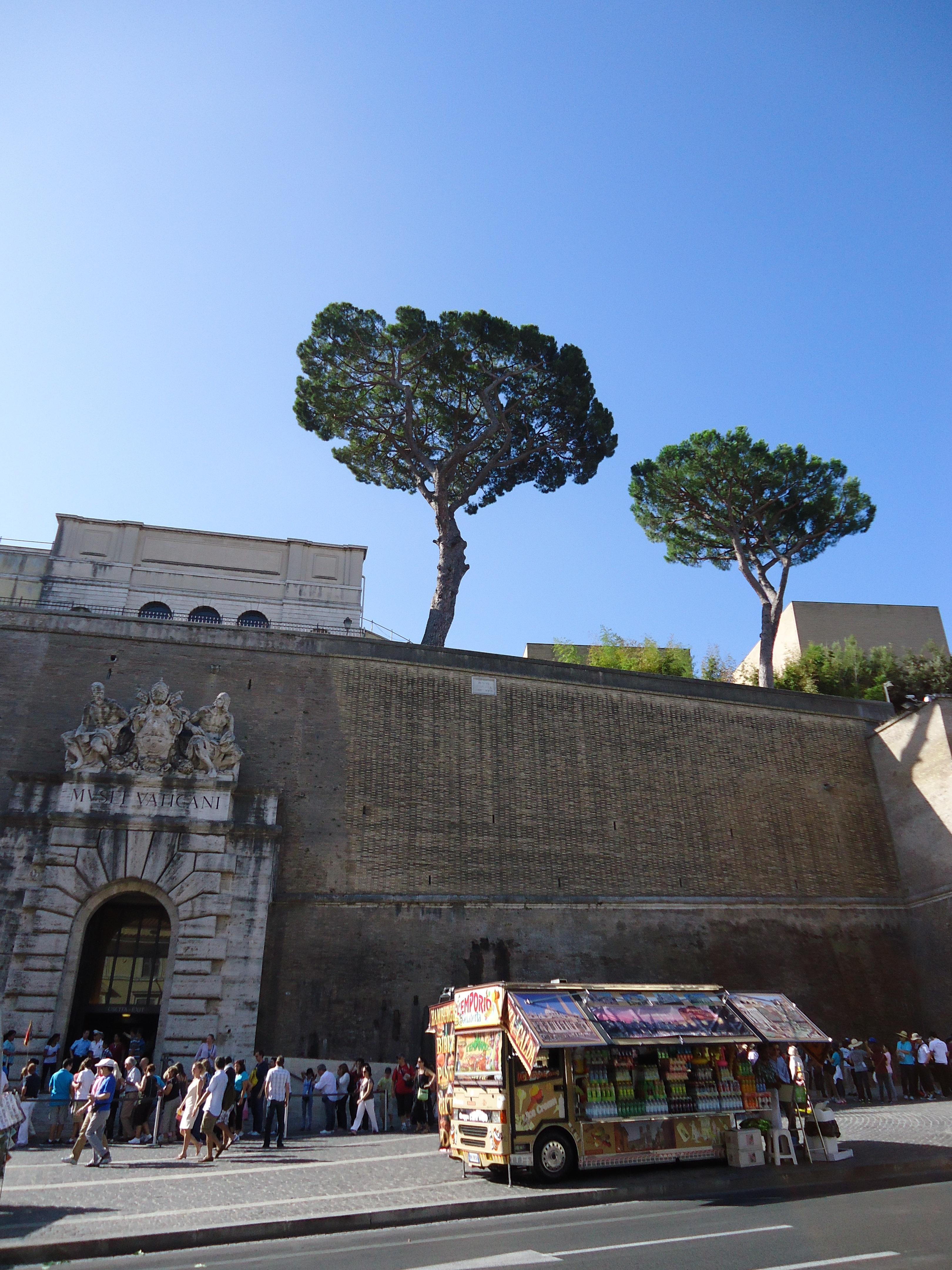 Ingang Vaticaans museum - Rome