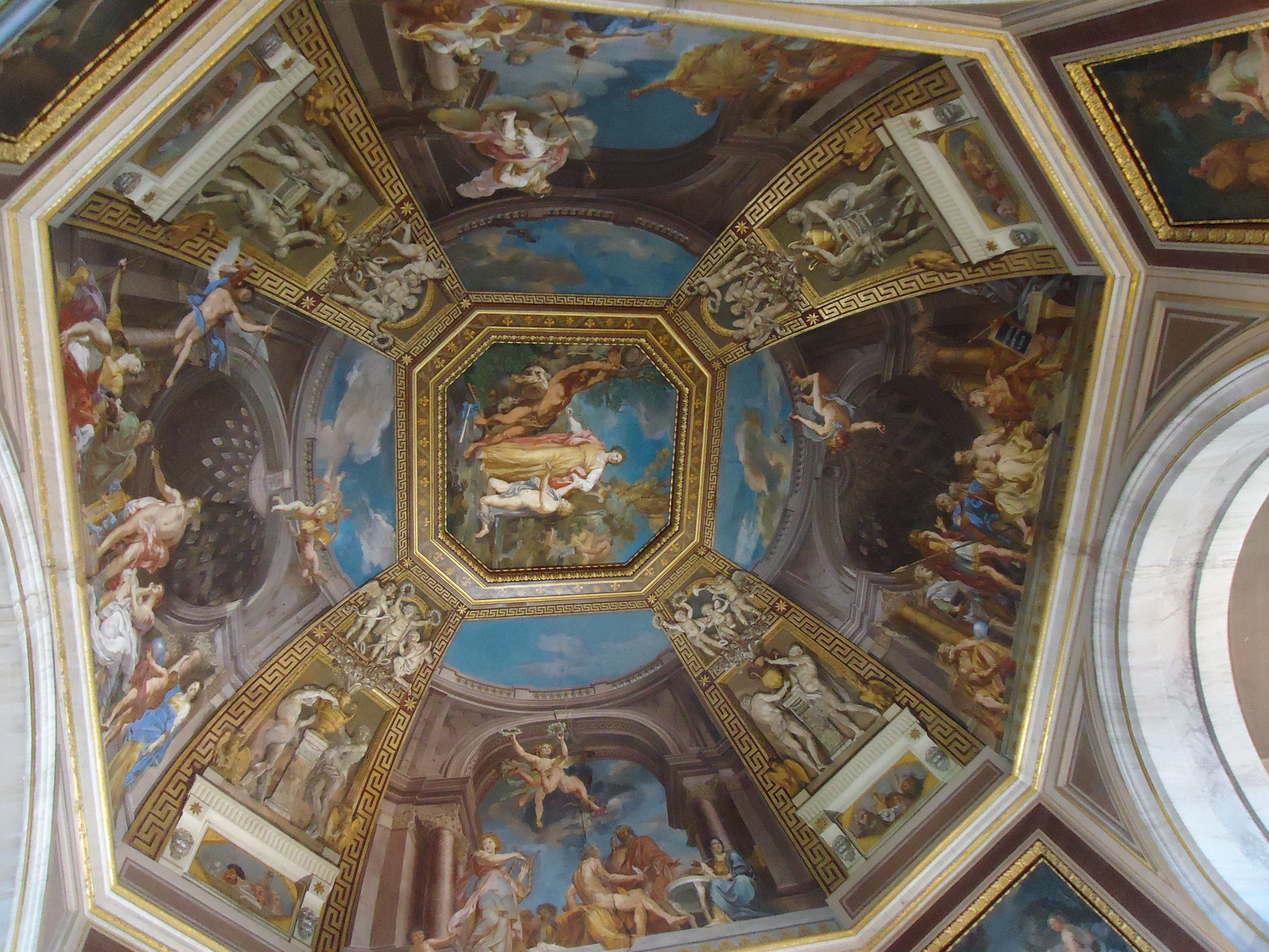 Plafond in het Vaticaans museum - Rome