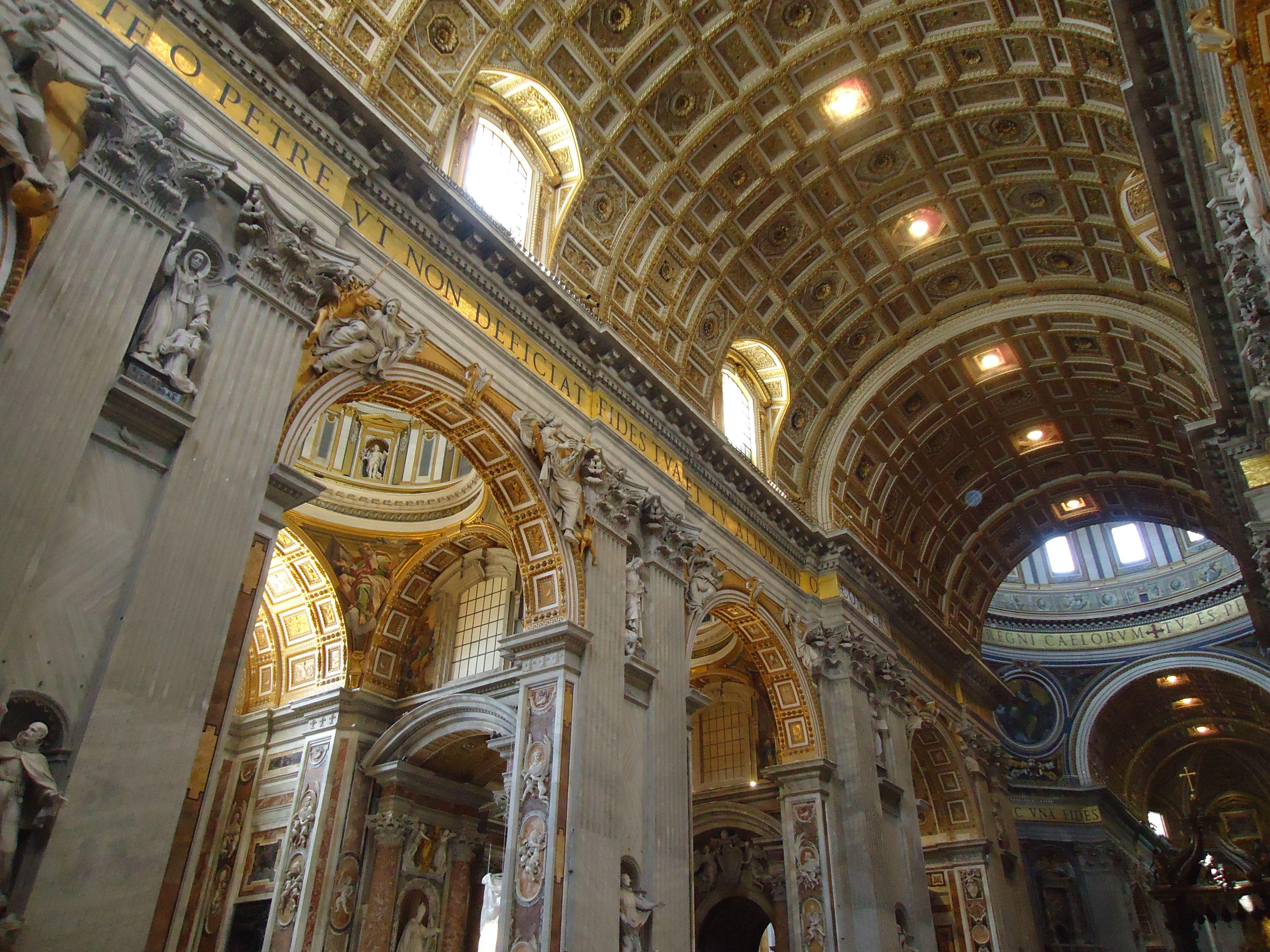 Schip van de Sint-Pietersbasiliek - Vaticaan - Rome