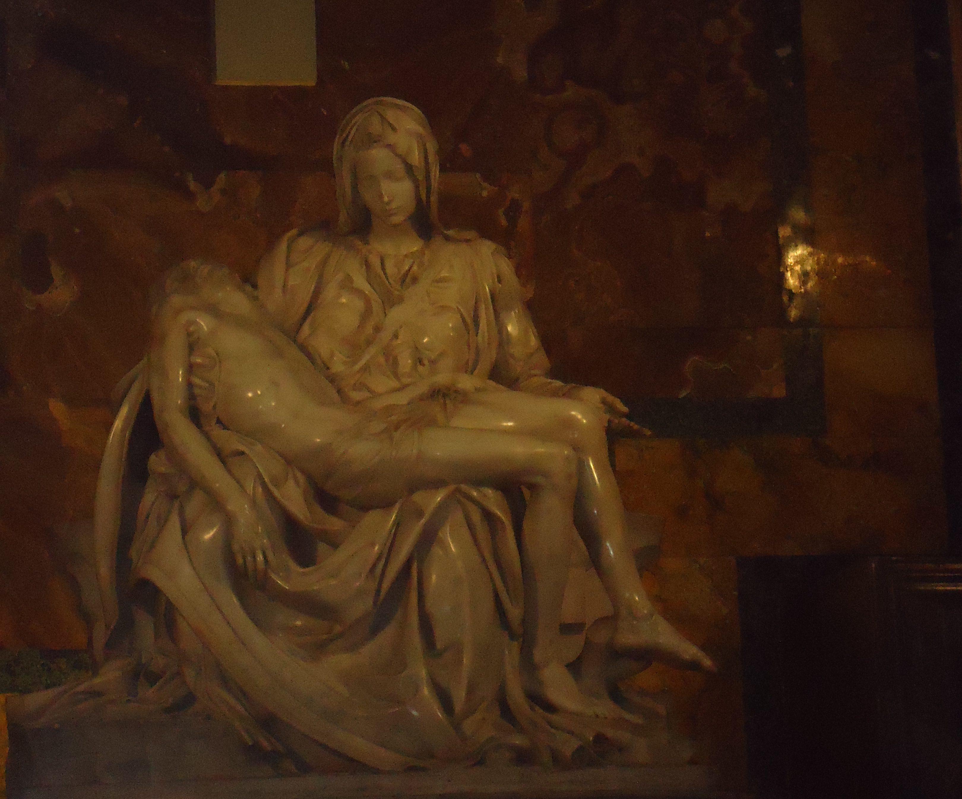 De marmeren pietà van Michelangelo - Sint-Pietersbasiliek - Vaticaan - Rome