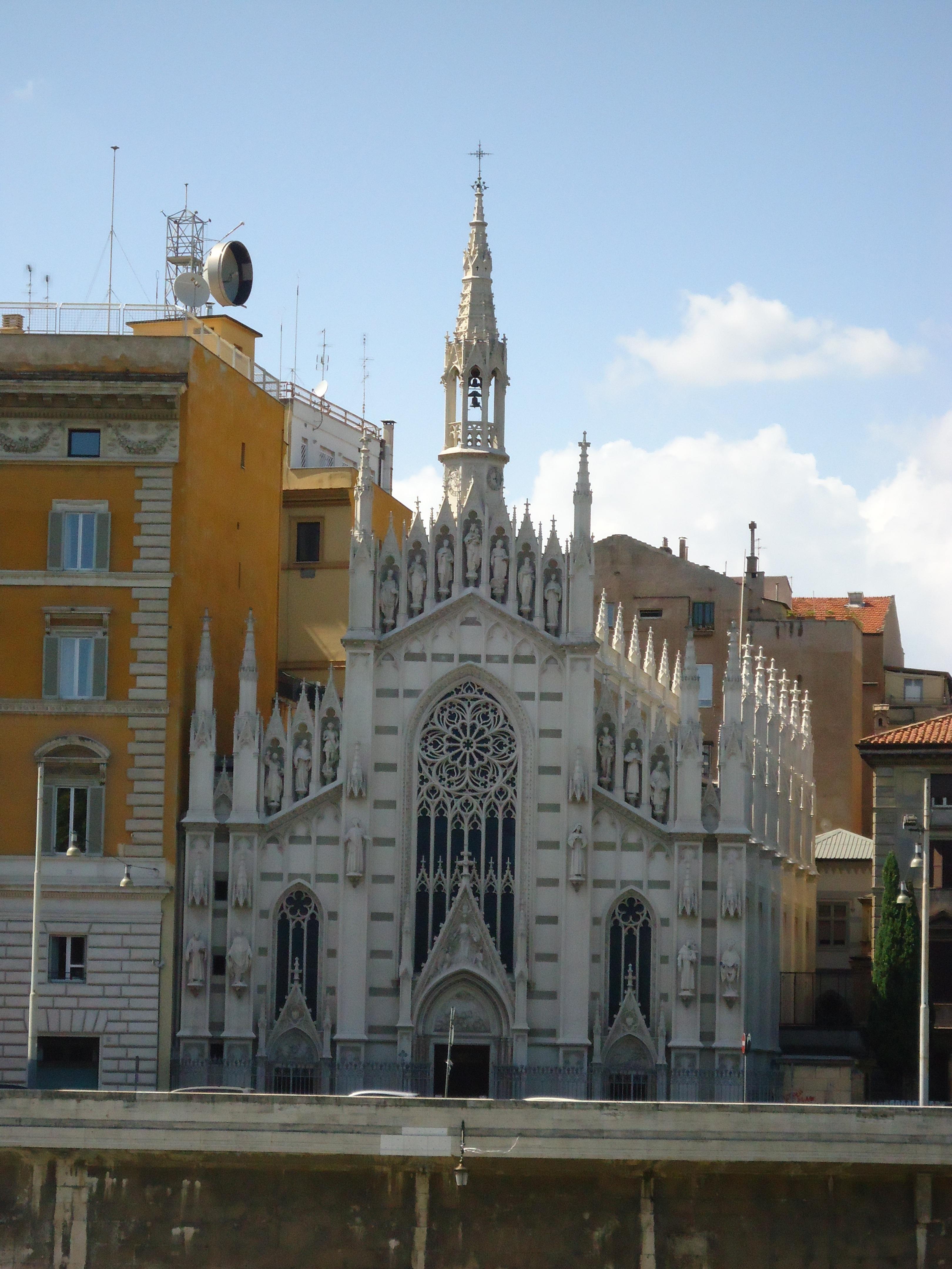 Witte kerk langs de Tiber in Rome