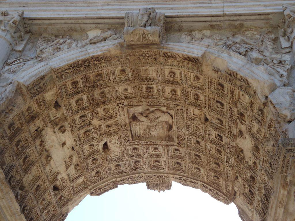 Detail van een triomfboog - Rome