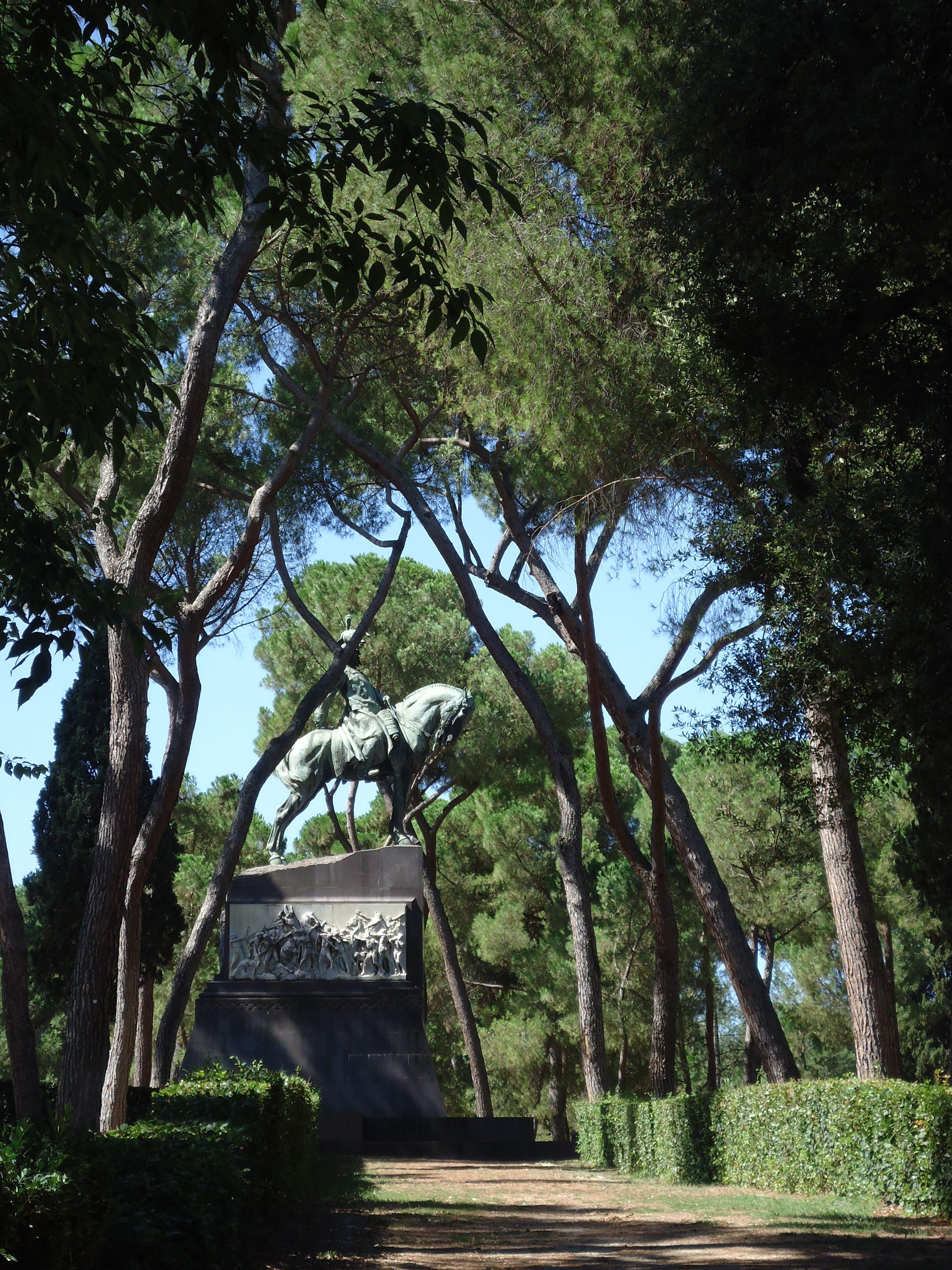 Ruiter te paard - Villa Borghese - Rome