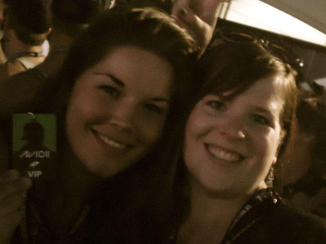Brenda en ik op t concert van Avicii