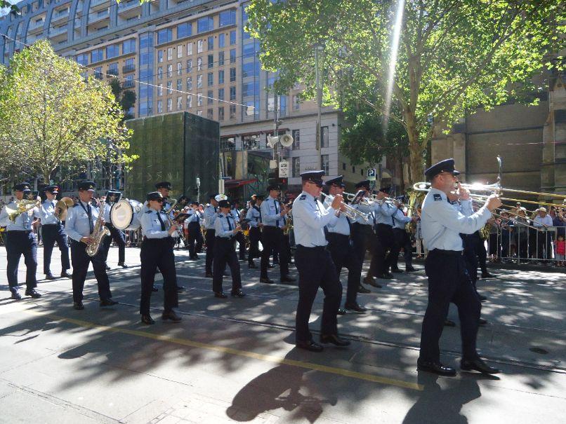 Australia Day Parade Melbourne - orkest politie