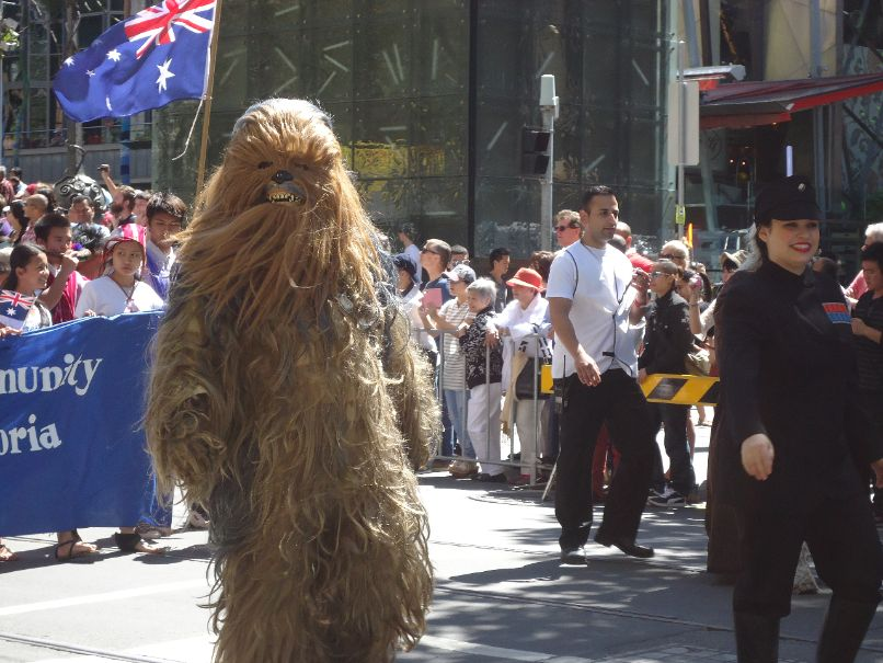 Australia Day Parade Melbourne - Chewbacca Star Wars