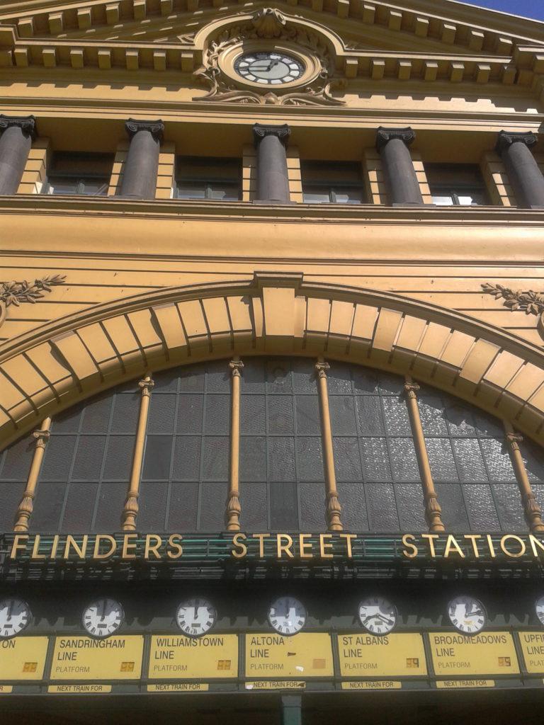 Flinders Street Station clocks Melbourne