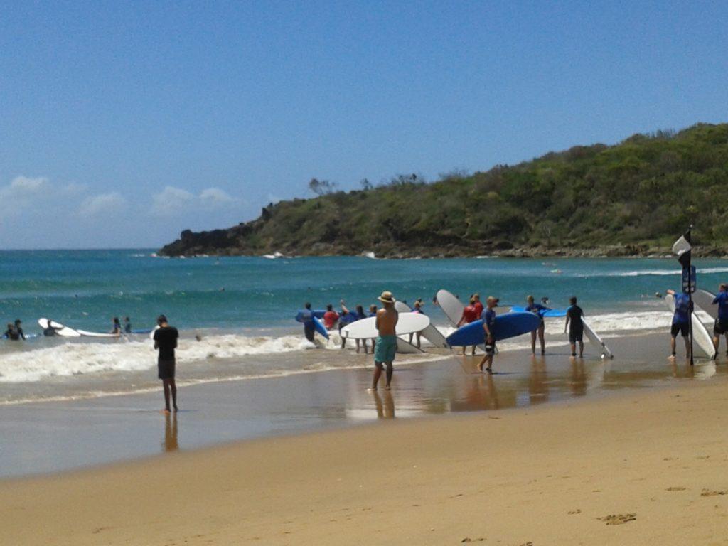 Surfen strand Agnes Water