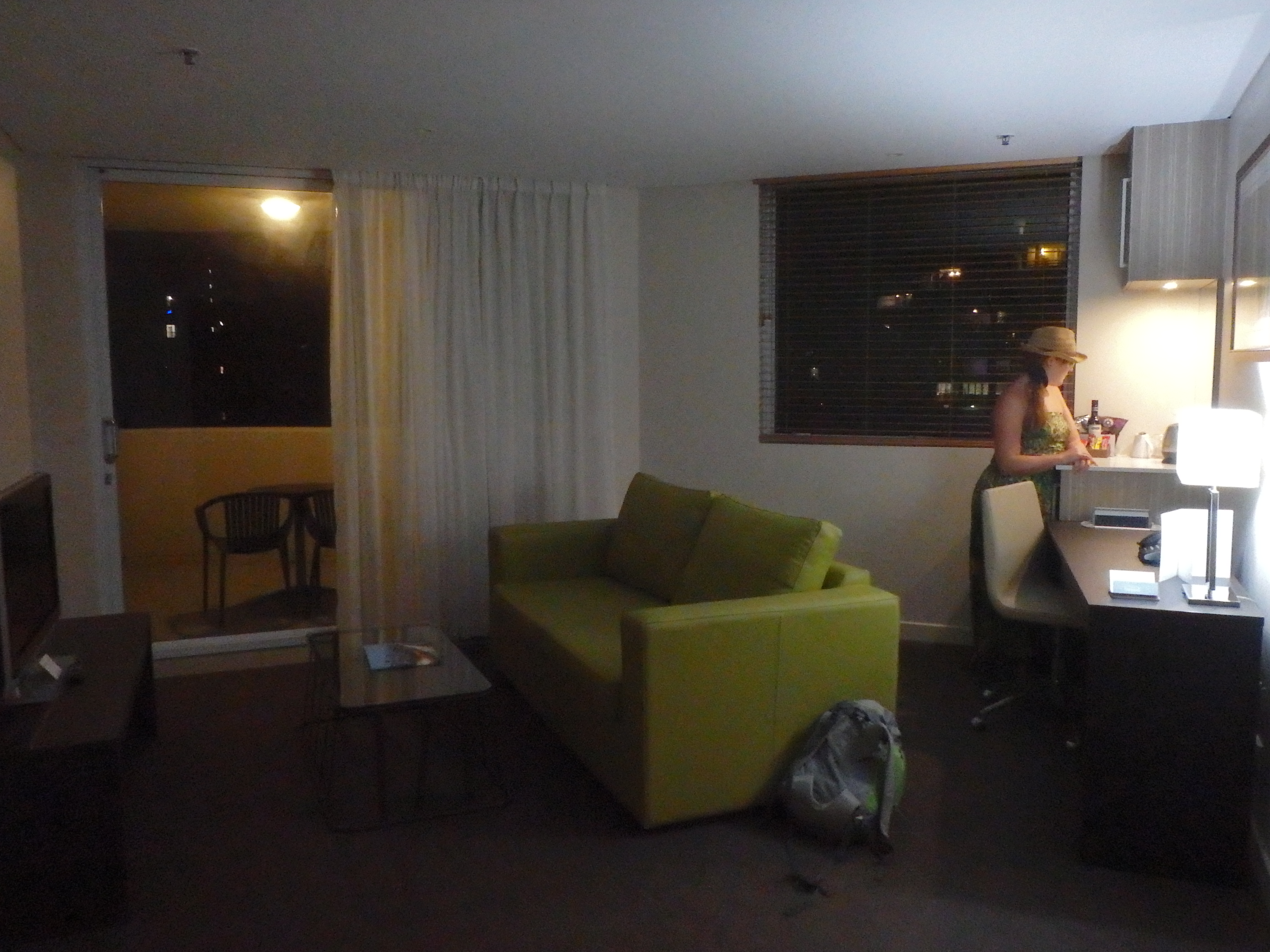 Woonkamer suite The Point Hotel Brisbane