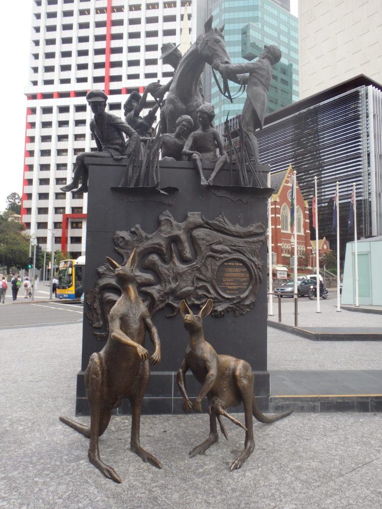 kangoeroe beeld brisbane