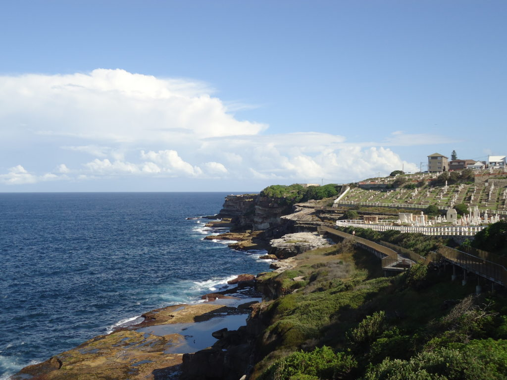 Waverley cemetery Bondi to Coogee Coastal Walk