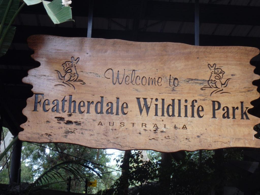Toegangsbord Featherdale Wildlife Park
