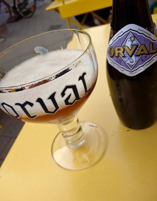 Orval bier - Belgisch bier - Terrasje - Brussel - Bxl