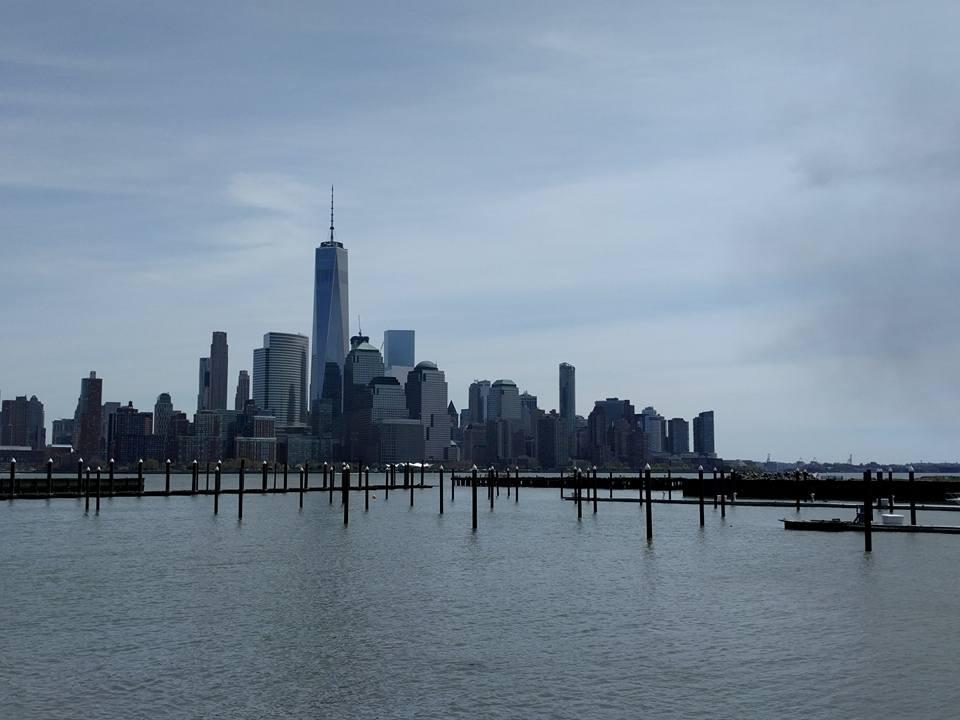 Zicht op downtown New York City vanuit Jersey City