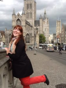 zicht-vanop-de-St.Michielsbrug-met-torens-van-Gent