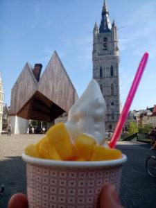 Frozen Yoghurt in Gent, Stadshal en Belfort Gent