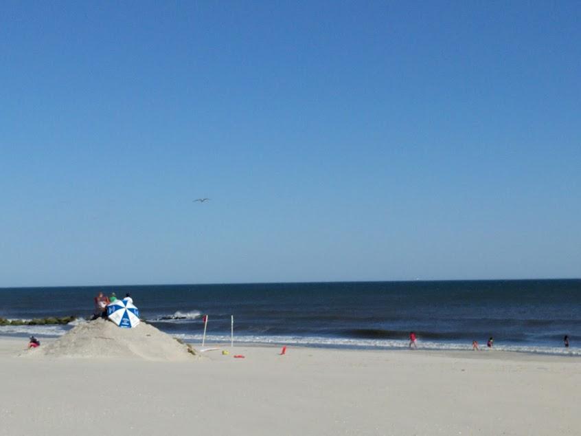 Redders plek op strand long beach