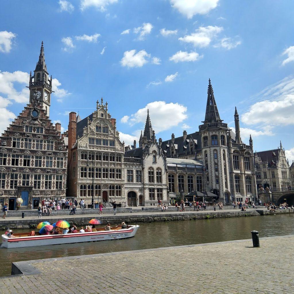 Graslei en Korenlei in Gent