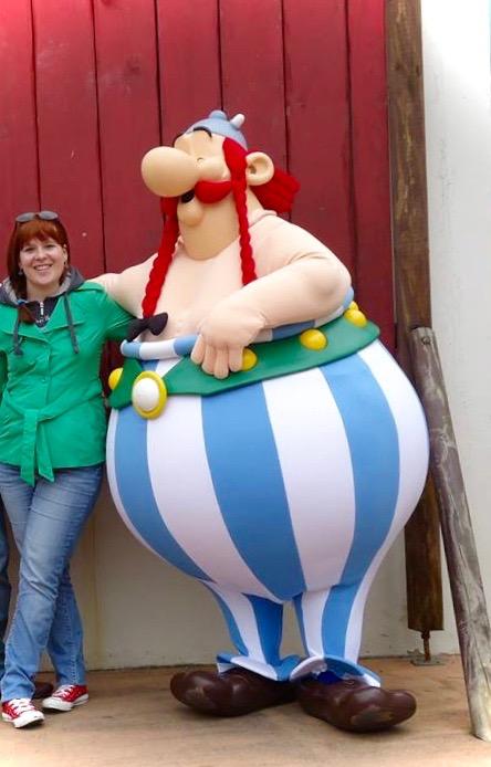 ik met Obelix in Parc Astérix