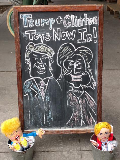 trump en clinton speelgoed