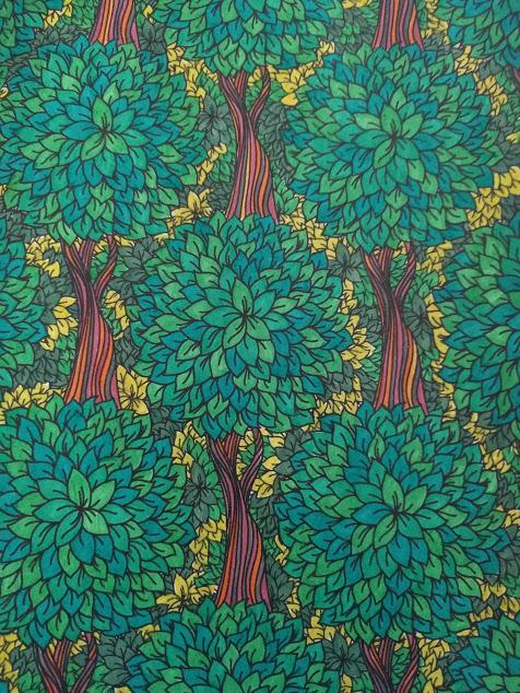 Ingekleurde tekening met bomen