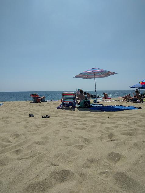 't zeetje, de kust, parasol, zee, strand