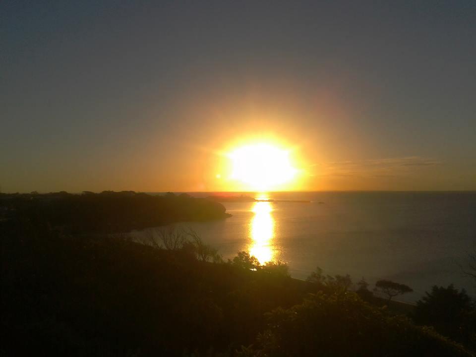 zonsondergang, Mornington, Melbourne, Australia