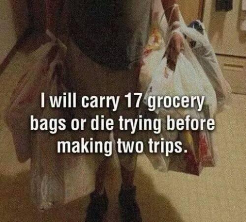 17 boodschappentassen tegelijk dragen