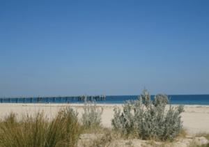 Strand en zee Adelaide, Australië