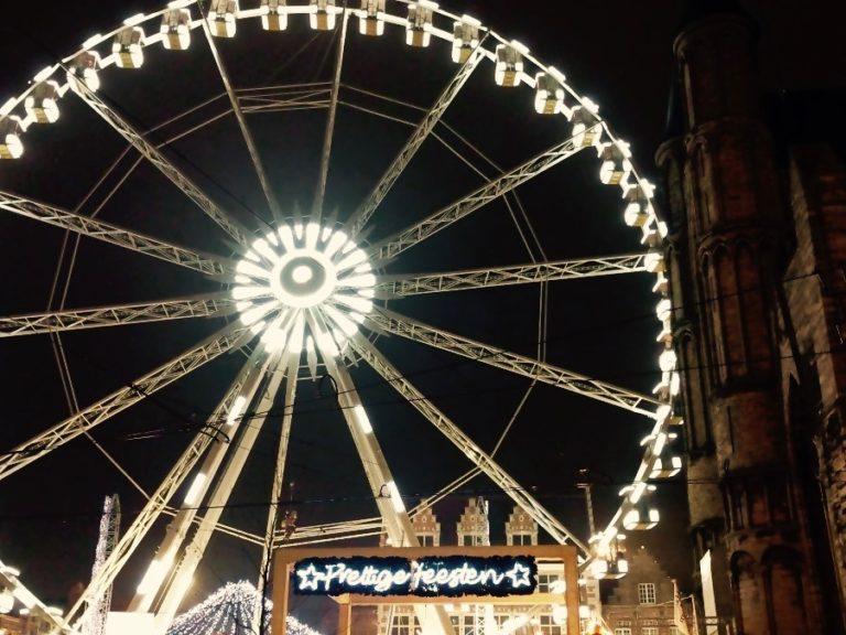 prettige feesten - reuzenrad - Kerst Gent