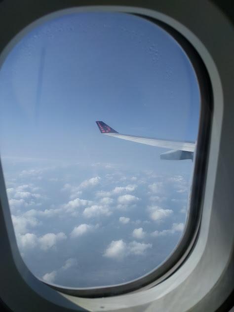 zicht uit vliegtuig