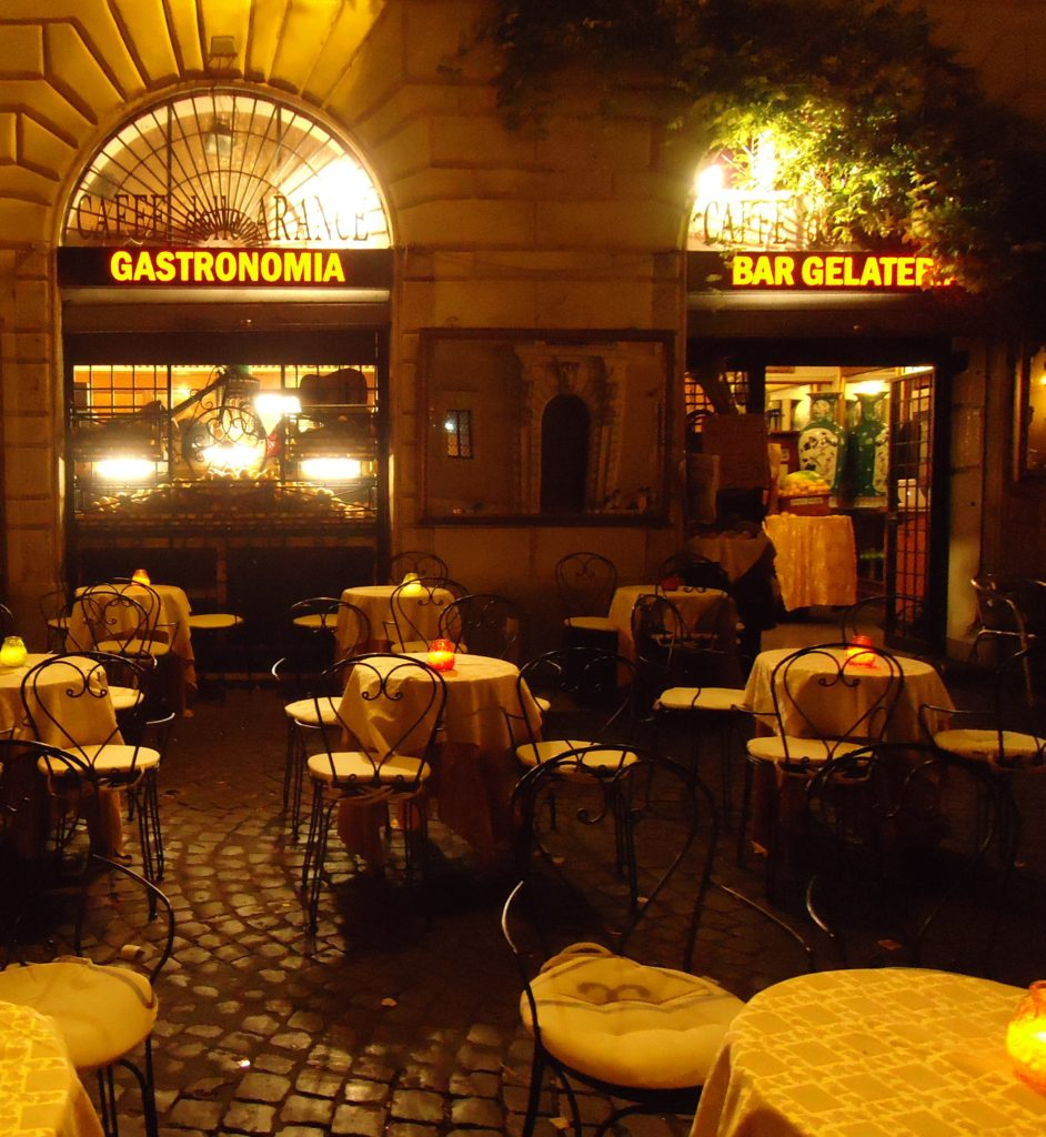 Romeins restaurant in het Trastevere (Piazza Santa Maria) - Gastronomia - Bar Gelateria - Waarom Italiaans leren in Rome?
