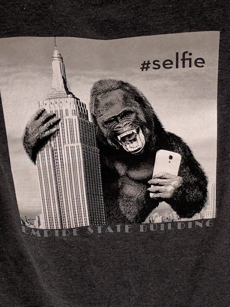 T-shirt King Kong selfie Empire State Building