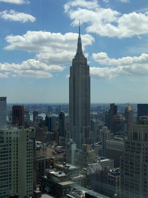 Zicht op NYC vanuit Flanders House - Empire State Building