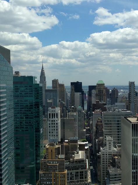 Zicht op NYC vanuit Flanders House