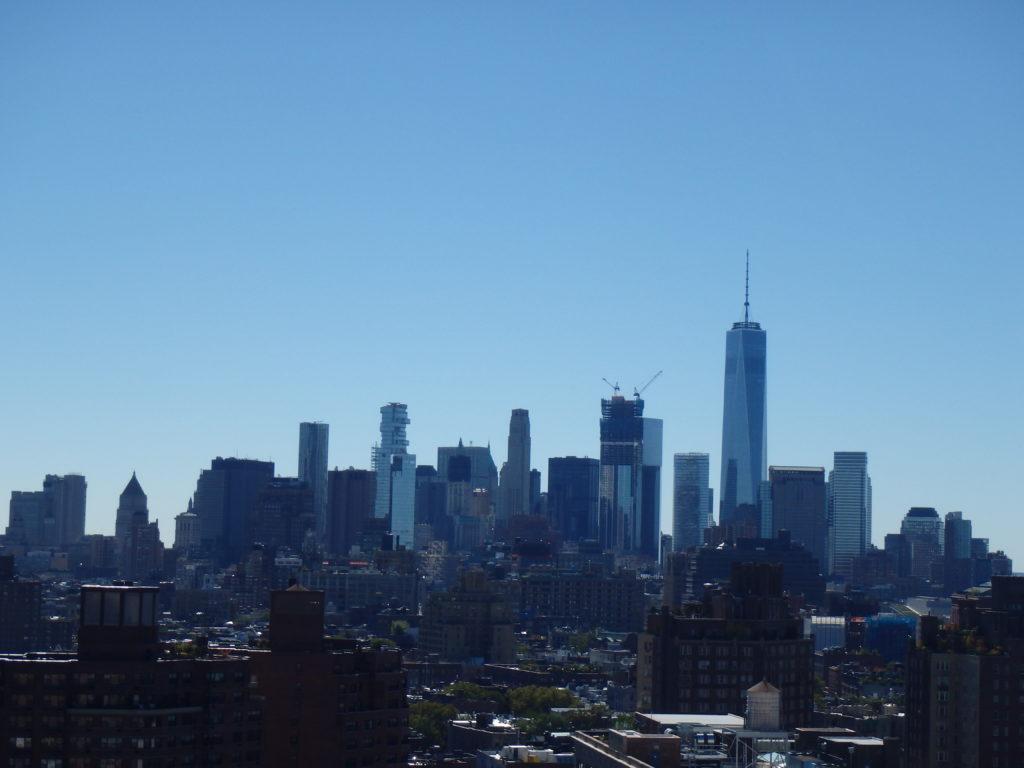 Zicht op downtown vanuit Google Office NYC