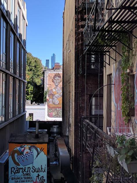 Street art - Ramen sushi reclame - High Line