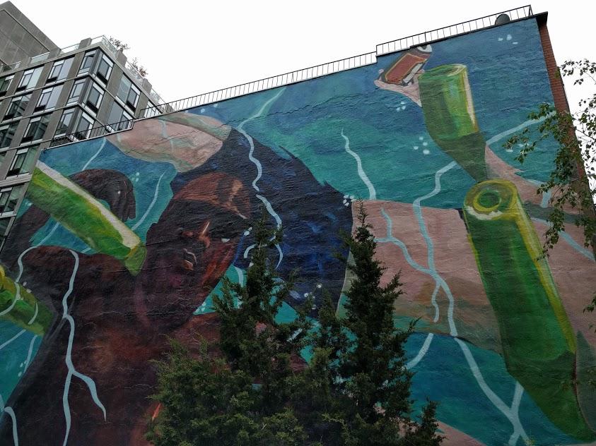 graffiti op de High Line - kunstwerk van H. Taylor