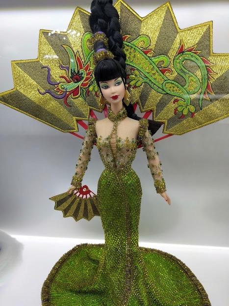 Barbie Bob Mackie groen chinese draak