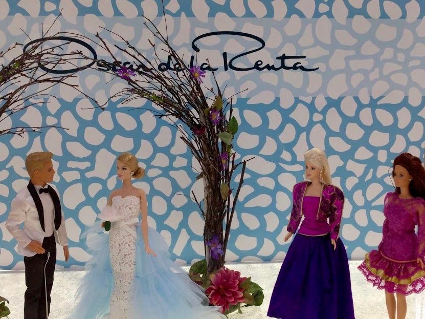 Barbie trouwtafereel Oscar de la Renta