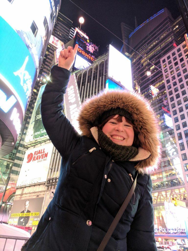 Oudejaar op Times Square in NYC