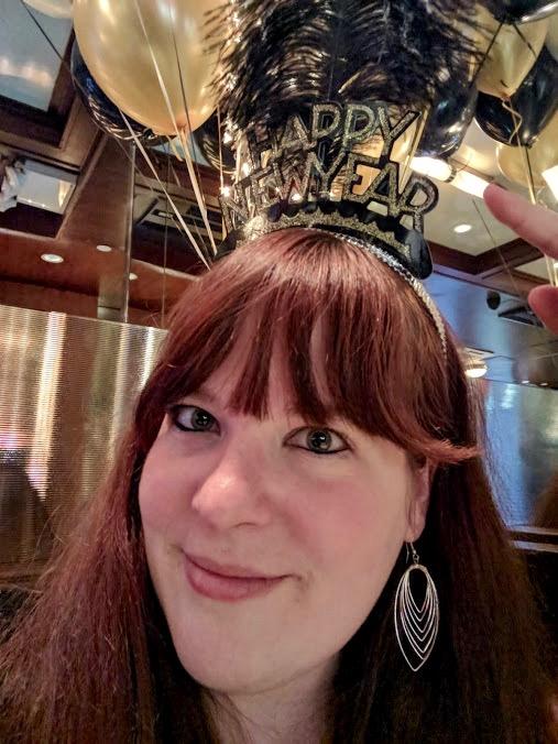 Ik met feesthoedje Happy New Year!