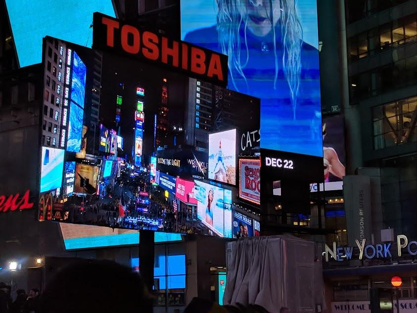 Scherm op Times Square