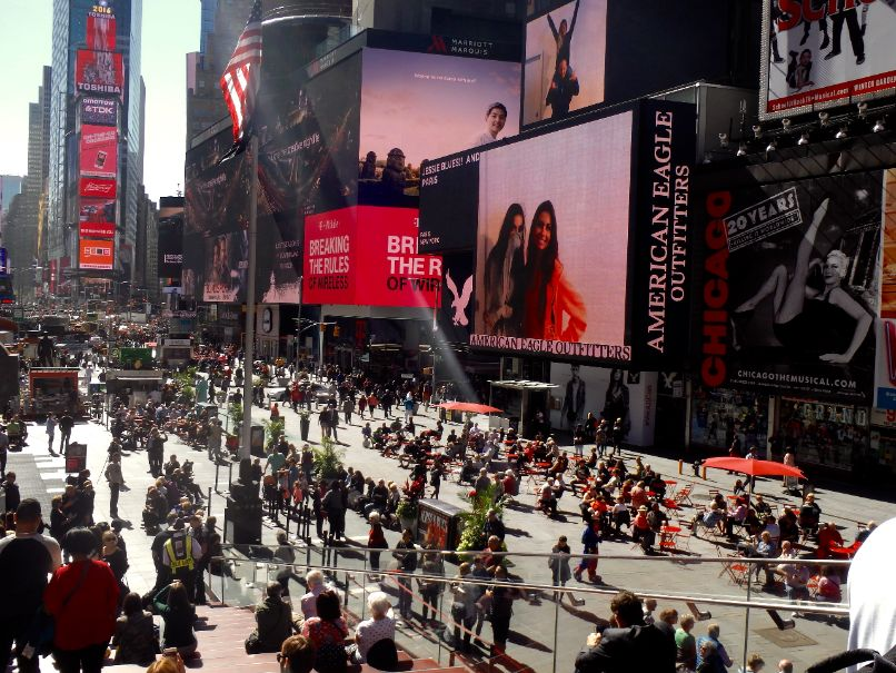 Times Square overdag