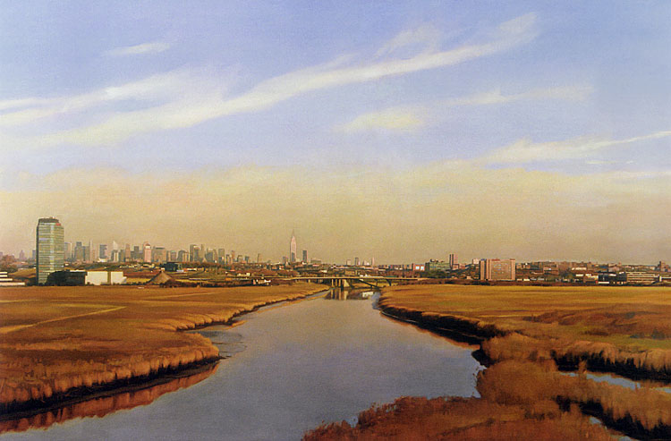 Schilderij 'Meadowlands View of NYC' door Gary Godbee