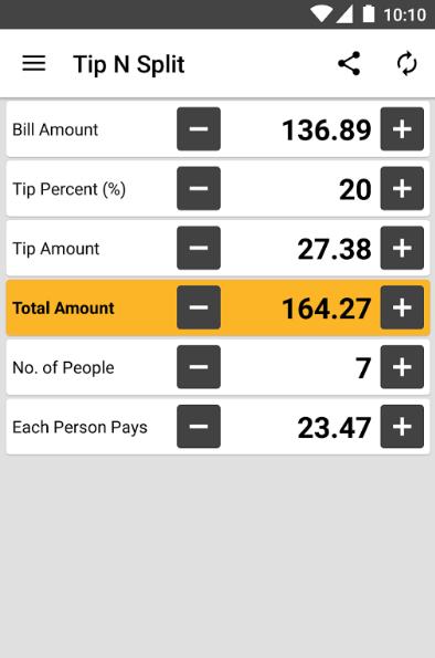 screenshot Tip n Split app