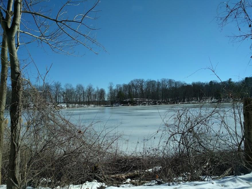 Bevroren meer Olana Estate