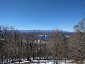 Zicht vanuit Olana op de Hudson, Upstate NY