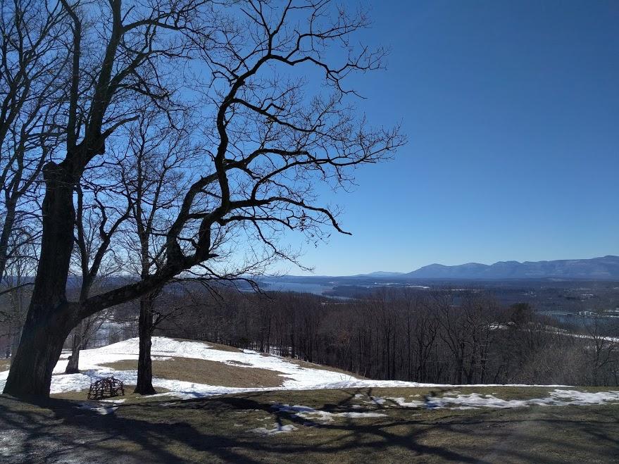Olana House Estate, view Hudson, mountains, NY