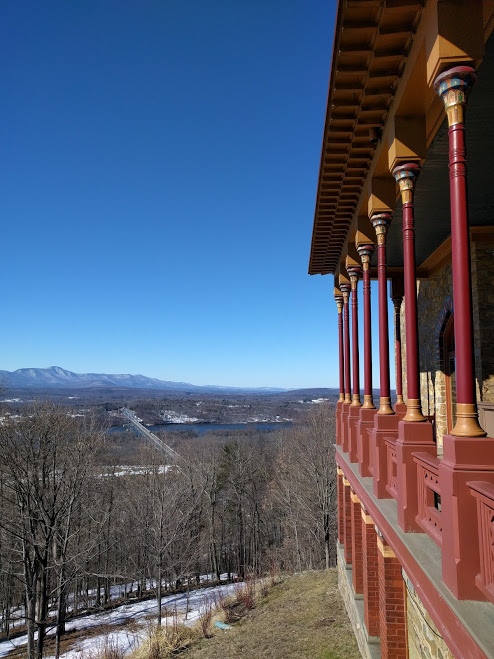 Olana house, view over Hudson, NY